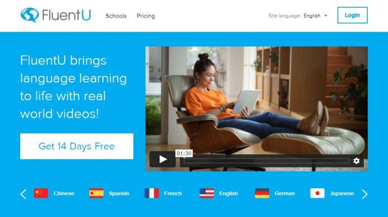 外語學習平台 fluentu