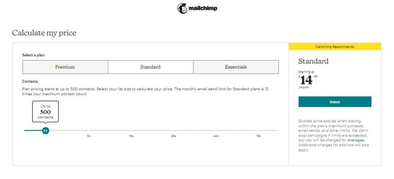 GetResponse price comapre with mailchimp