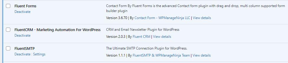 WordPress表單 fluent form 1