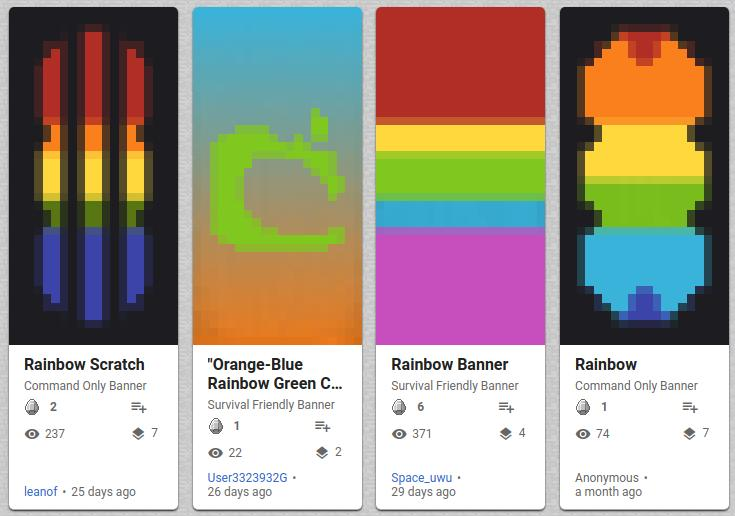 How to Make a Rainbow Banner in Minecraft