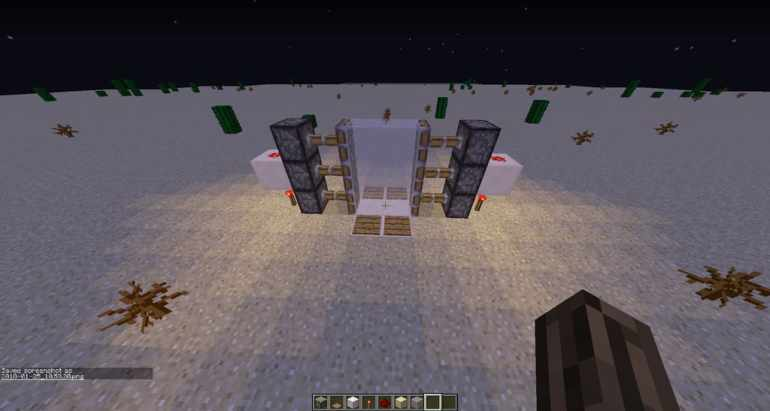 How to Make a Sliding Door in Minecraft