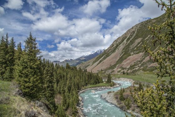 Summer day in the mountains of Kyrgyzstan
