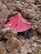 Pelerine & Felsen schützen vor Gewitter und Hagel...