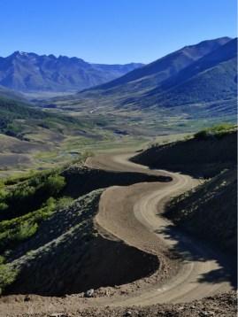 Blick zurück: Die argentinischen Anden...
