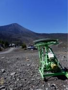 Sommersaison in Chakay, dem Skigebiet auf der Flanke des Vulkans.