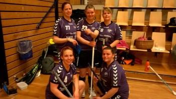 First Lady Bombers: Charlotte Vase, Anette S. Pedersen, Karina Karl, Charlotte Fogtmann og Fidaije Christensen