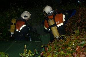 Onsdag aften var der igen ild i en papcontainer i Ladegårdsparken. Foto: Freelancefotografen.dk