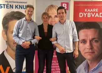 De tre kandidater: Sten Knuth (V), Kathrine Olldag (B) og Kaare Dybvad Bek (A) Foto: Steffen Kisselhegn.