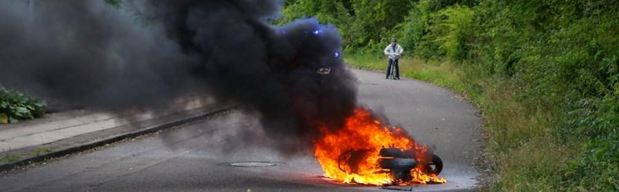 Brand i Scooter