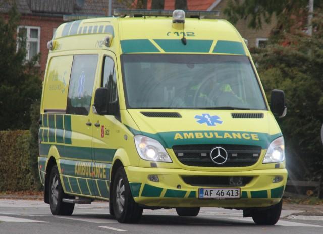 Ambulanceudrykning udløste uheld
