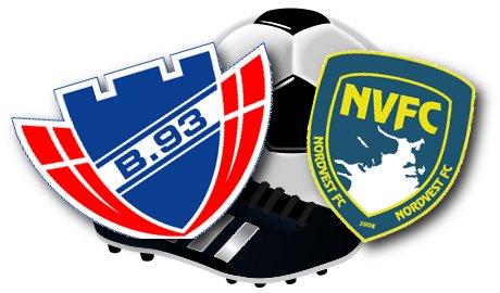 Nordvest FC og B93 spiller søndag på Holbæk Stadion. Grafik: Rolf Larsen