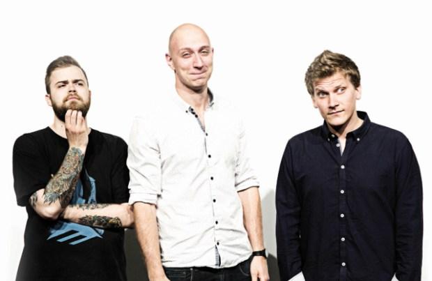 Tirsdag den 30. september kan man opleve Martin Nørgaard, Daniel Lill og Heino Hansen i Kulturbiografen Frysehuset. PR Foto.