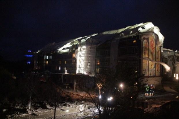 Flere medier fortalte tirsdag hvilke opgange der var tømt for beboere og hvorlænge de ville være væk. Foto: Rolf Larsen.