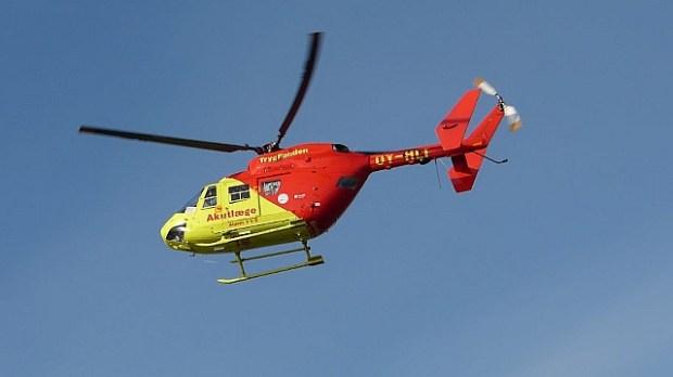 En person blev fløjet til Rigshospitalet efter et færdselsuheld mandag morgen.  Arkivfoto: Jesper von Staffeldt.