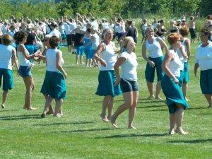 De øver til Landsstævnet. Foto: Freelancefotografen.dk