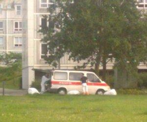 En mand blev i dag fundet død i en lejlighed i Ladegårdsparken. Foto: Holbaekonline.dk