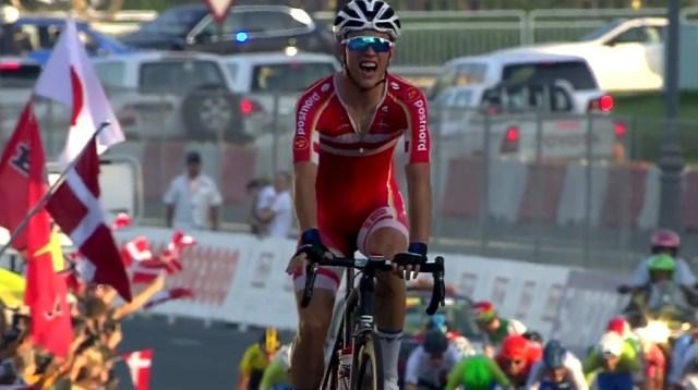 Jakob Egholm vandt fredag U19 verdensmesterskabet i Landevejscykling.