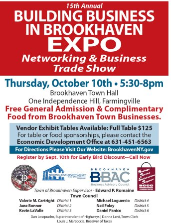 15th Annual Building Business in Brookhaven Expo @ Brookhaven Town Hall | Farmingville | New York | United States