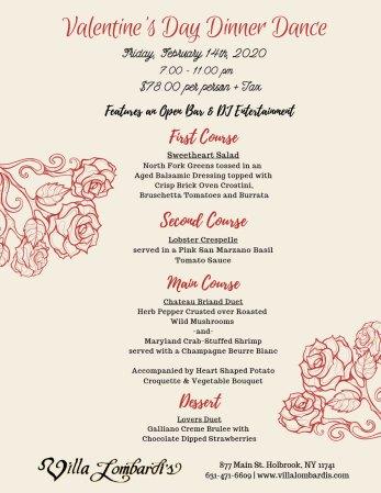 Valentine's Day Dinner Dance @ Villa Lombardi's   Holbrook   New York   United States