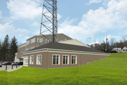 A digital rendering of a planned 5,967 square foot expansion of the Norfolk County Regional Public Safety Answering Point. (Courtesy photo)