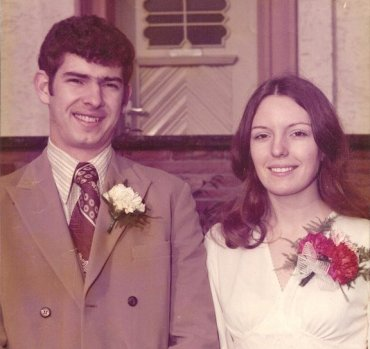 01-31-75Linda & I on Our Wedding Day 01-31-75