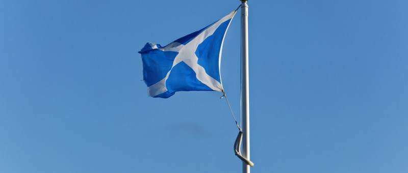 St Andrews Day in Glasgow - Scottish Flag