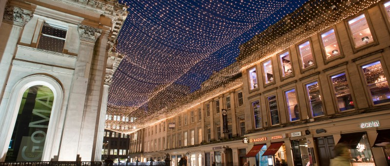 Christmas in Glasgow - Royal Exchange Square and GOMA