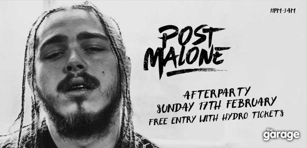Hold Fast Entertainment Events - Post Malone Afterparty at The Garage