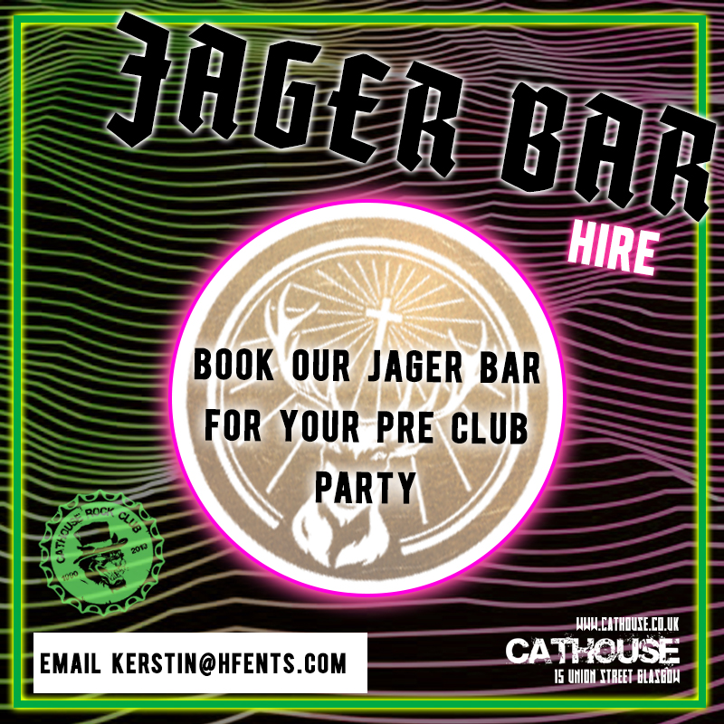 Cathouse Rock Club Jager Bar Hire