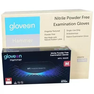 black nitrile gloves carton Medium