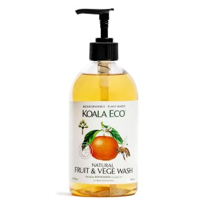 Koala Eco Natural Fruit and Vege Wash Mandarin Scented 500ml from Holdfast Tattoo Supplies