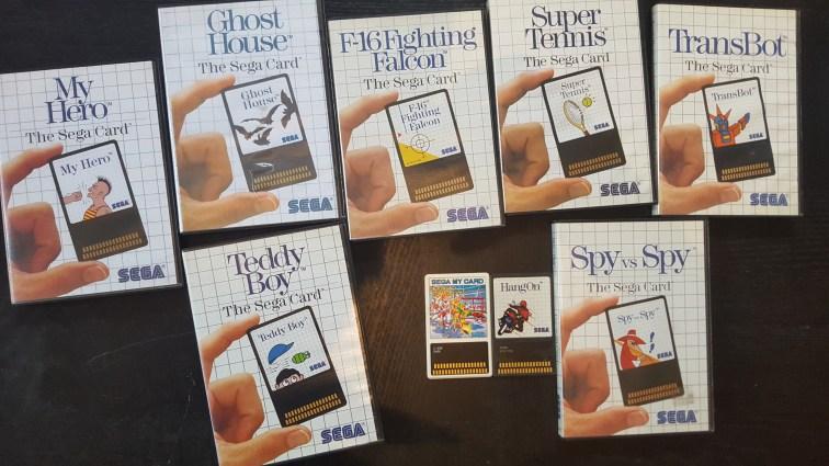 Sega Cards Master System collection