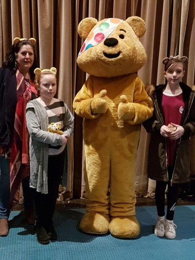 Children in need Pudsey with kids