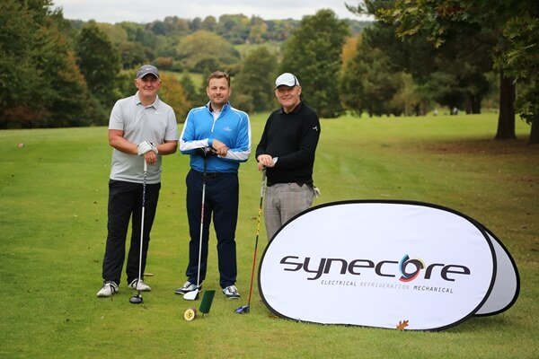 Paul Thomas, Founder and Managing Director of Synecore (centre)