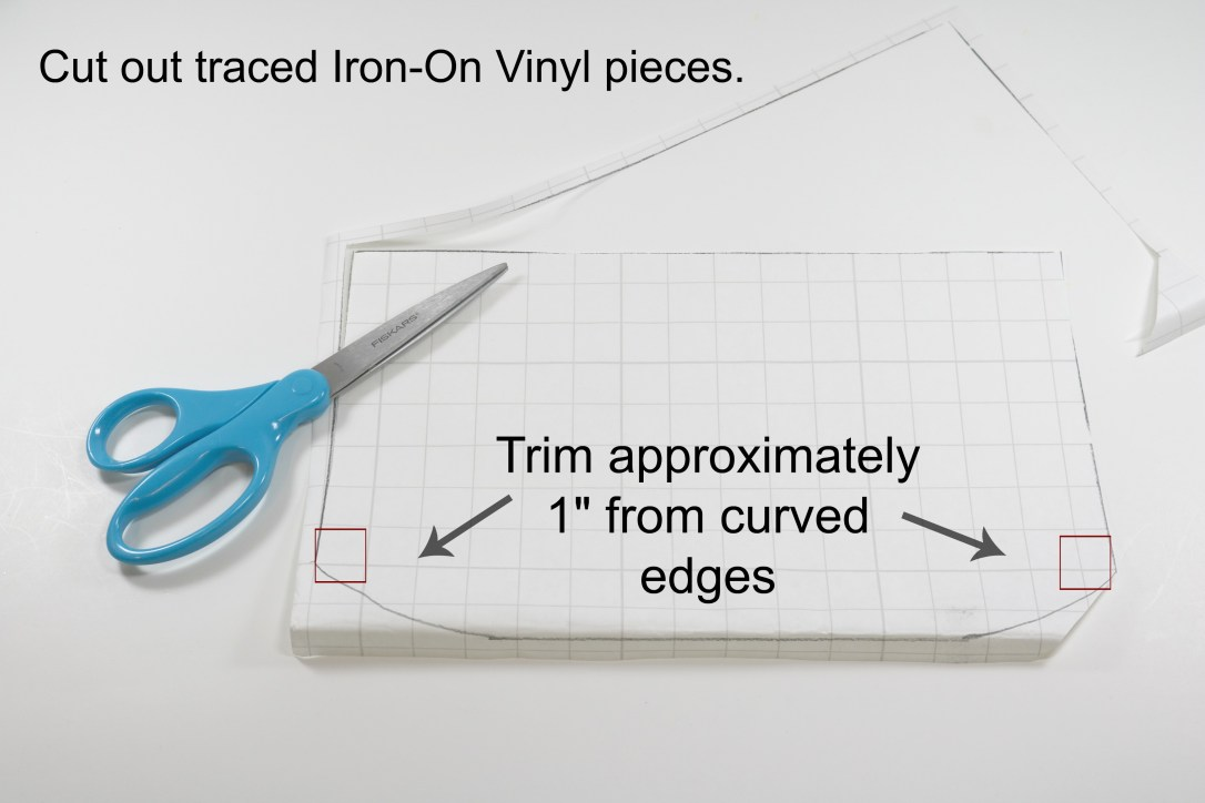 5 - Cut out traced pieces - Trim approx 1 inch