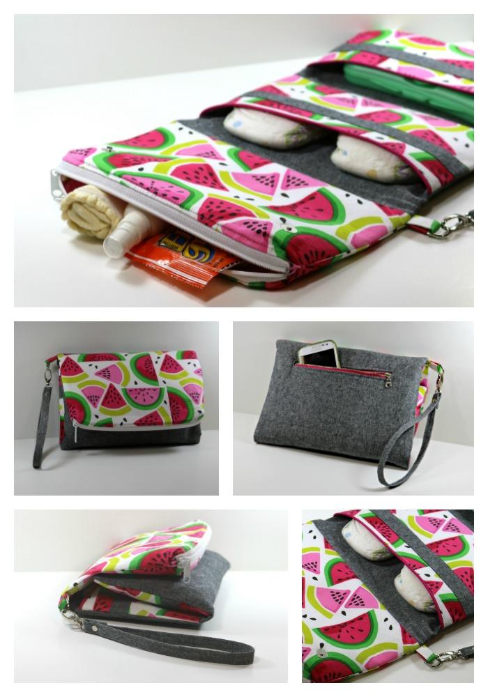 Go Baby collage - Watermelon print