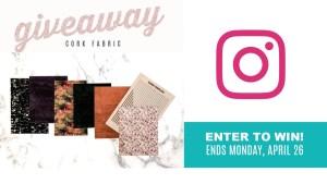 Instagram Cork Fabric Giveaway