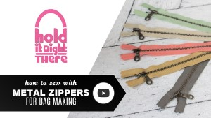 Tips for Sewing with Metal Zippers