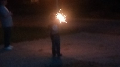 Sparklers on the Nativity of St John the Baptist
