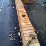 Core Drilled in Garden Wall for Rallings