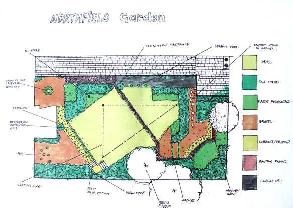Northfield Place, Town garden, Aberdeen 1992