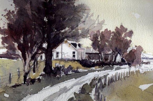 Tillybin farm, Autumn 1996 - by Peter Gordon