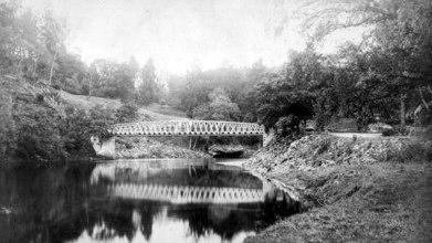 Dunalastair Iron bridge before it collapsed