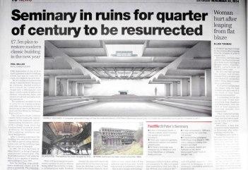 St Peter's Seminary, Cardross - Glasgow Herald 2014