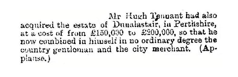 Hugh Tennent Tennent of Dunalastair