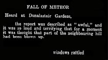 Fall of a meteor at Dunalstair