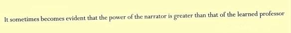 Ken Calman (91 The narrator or the Professor)