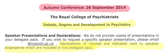 Outline of conference 26 Sept 14