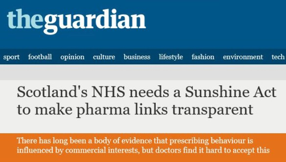 Scotland's NHS needs a Sunshine Act