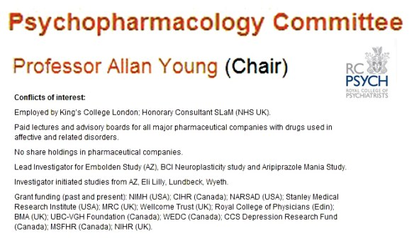 Prof Allan Young, Chair